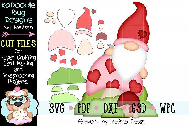 Valentine Mushroom Gnome Cut File - SVG PDF DXF GSD WPC