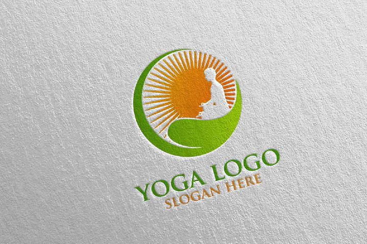 Yoga and Spa Lotus Flower logo 12