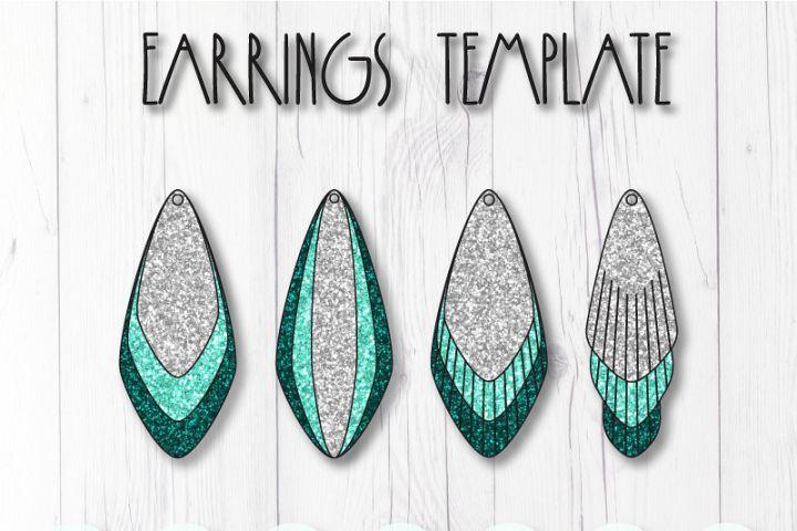 Earrings template SVG, DIY earrings template