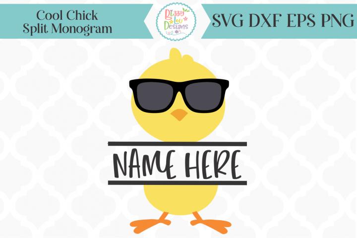 Split Monogram I Chick SVG I Easter SVG I Easter Cutting Fil
