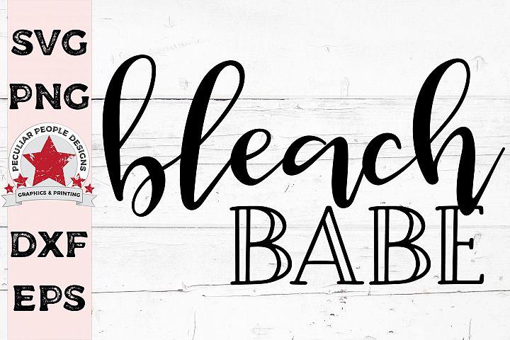 Bleach Babe Hairstylist SVG, beauty salon hairdresser