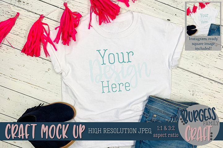 Birthday Girl shirt Craft mock up |JPEG