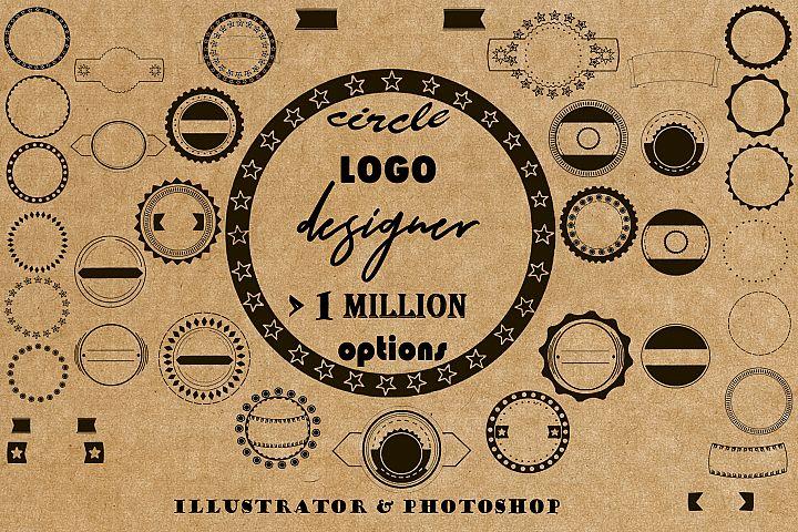 A circle logo designer