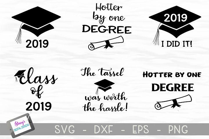 Graduation SVG Bundle - Includes 6 Class of 2019 SVG files