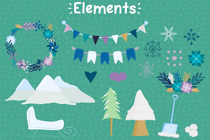 Winter Love - Graphics and Patterns example 3