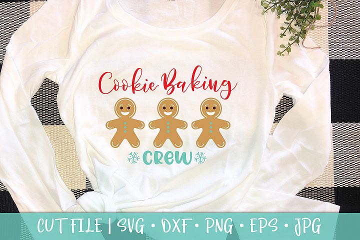 Gingerbread Cookie Baking Crew SVG DXF Cut File