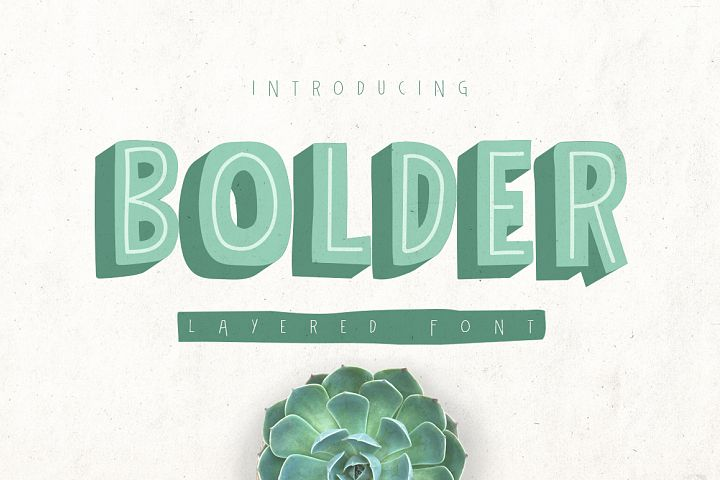 Bolder Typeface