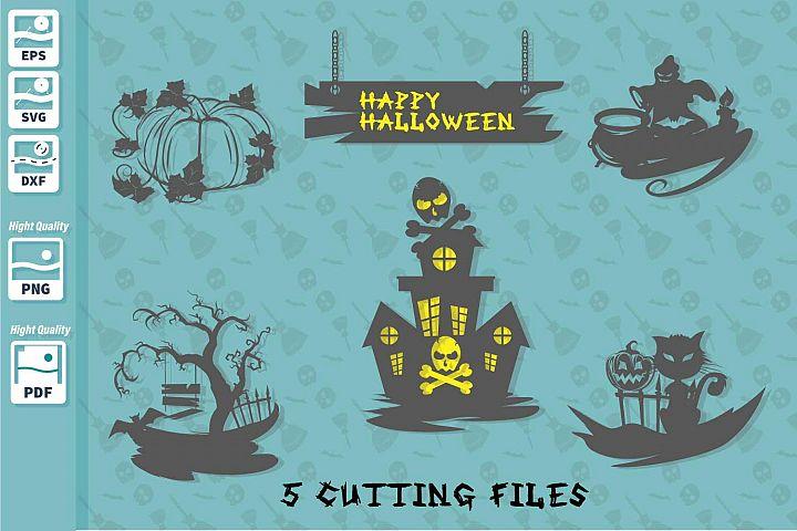 Halloween cutting files bundle