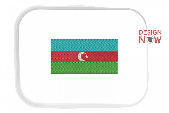 Flag Of Azerbaijan Embroidery Design, Map Embroidery