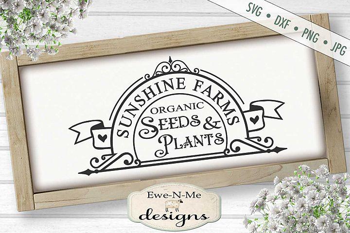 Sunshine Acres Seeds Plants - Gardening Outdoor - SVG