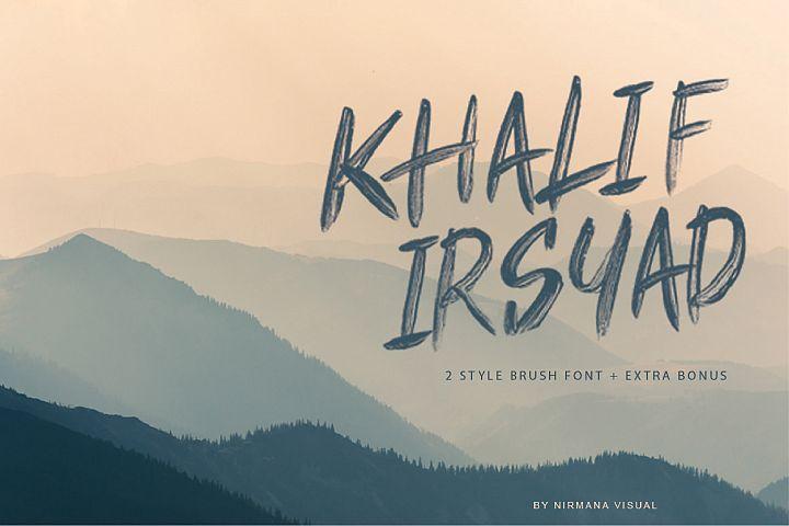 Khalif Irsyad 2 font style Plus Extra Bonus Illustration