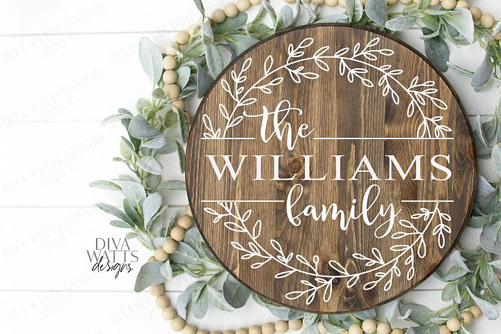 Family Sign - Farmhouse Style - You Customize - SVG Cut File
