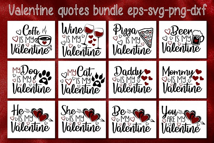 Valentines Quotes Bundle Svg