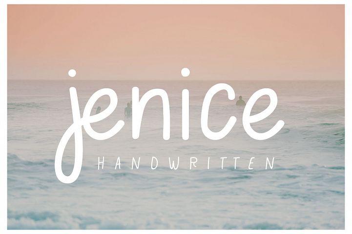 jenice | casual handwritten font