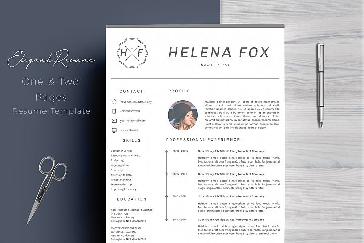 Creative Chic Resume Template 4 Pages Prototype Studio Templates