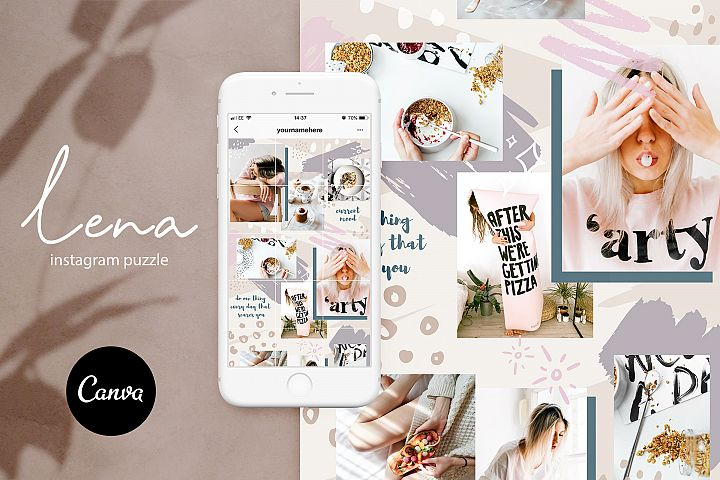 Instagram grid layout pack for Canva