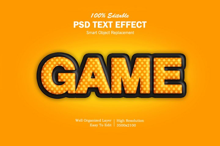 Game 3D Text Effects