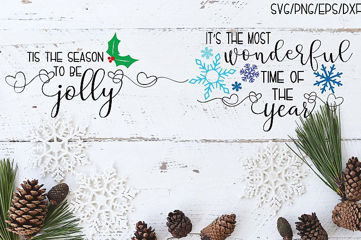 Tis The Season Set of 2 Christmas SVGs