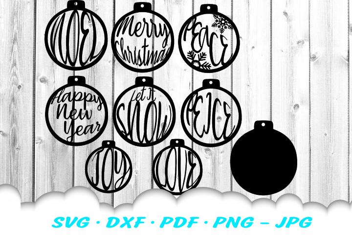 Christmas Ornament Earring SVG DXF Cut Files Bundle