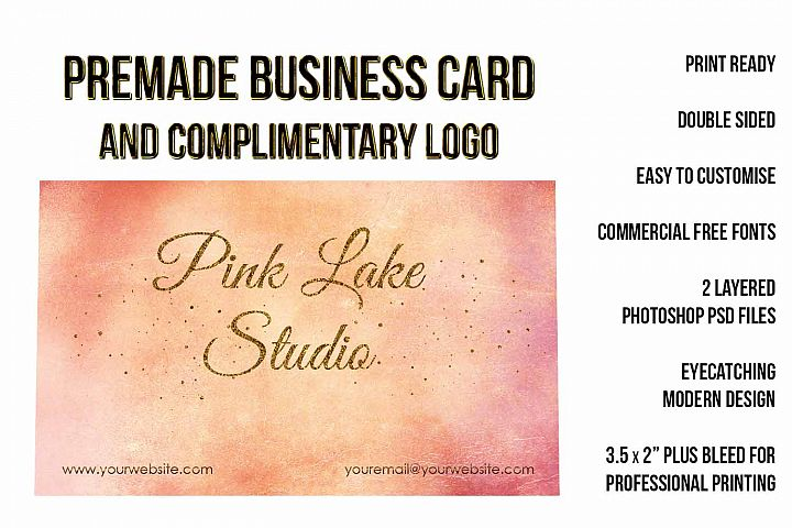 Blush, Apricot and Gold Glitter Business Card Template example 3