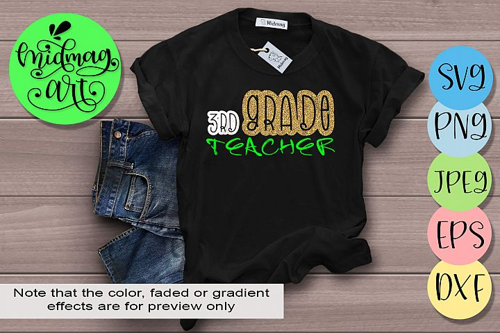 3rd Grade teacher svg, Back to school svg