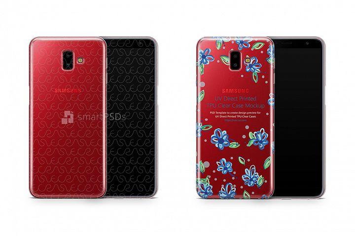 Samsung Galaxy J6 Plus UV TPU Clear Case Mockup 2018