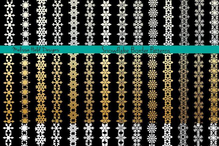 Snowflake Border Patterns