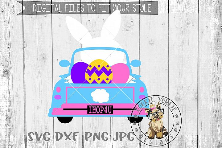 Bunny Truck - Easter - SVG cut file