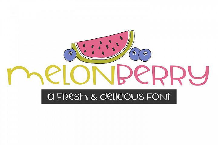 Melonberry Handwritten Font