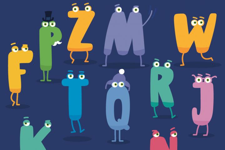 Charm - illustrated letter font
