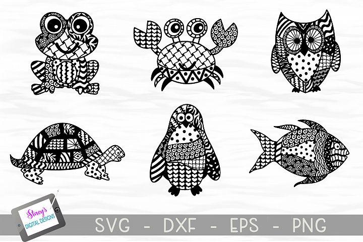 Doodle Animal SVG Bundle