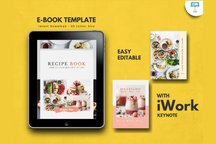 Recipe Book Template eBook Keynote Presentation