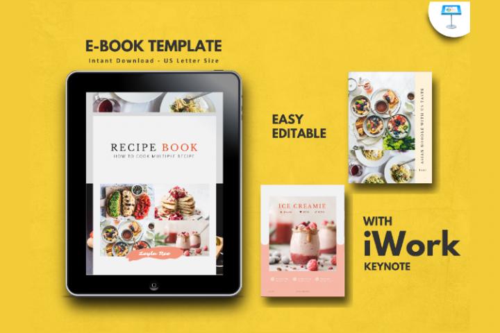 Recipe Book Template eBook Keynote Presentation