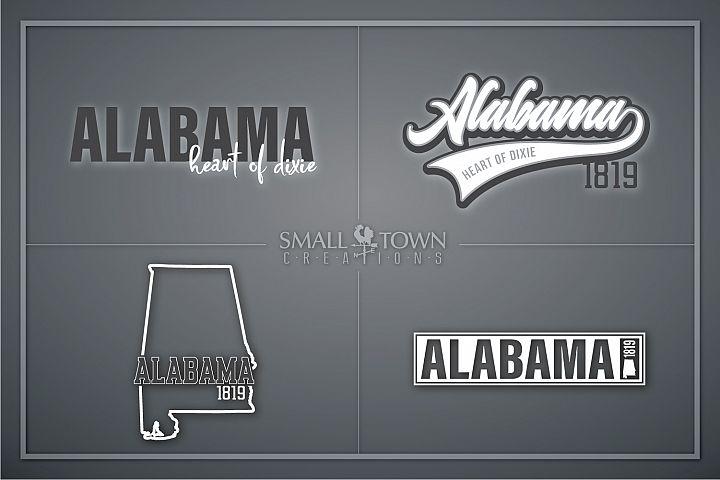 Alabama, Bundle, Heart of Dixie, Logo, PRINT, CUT & DESIGN