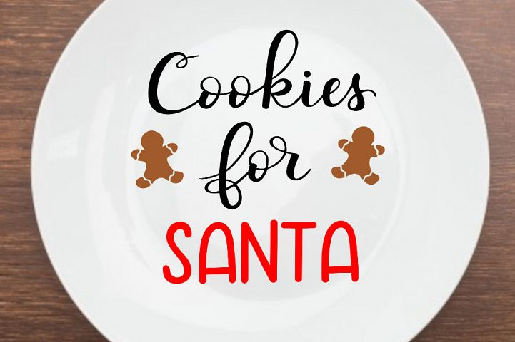 Christmas SVG - Cookies for Santa SVG file, handlettered example 2