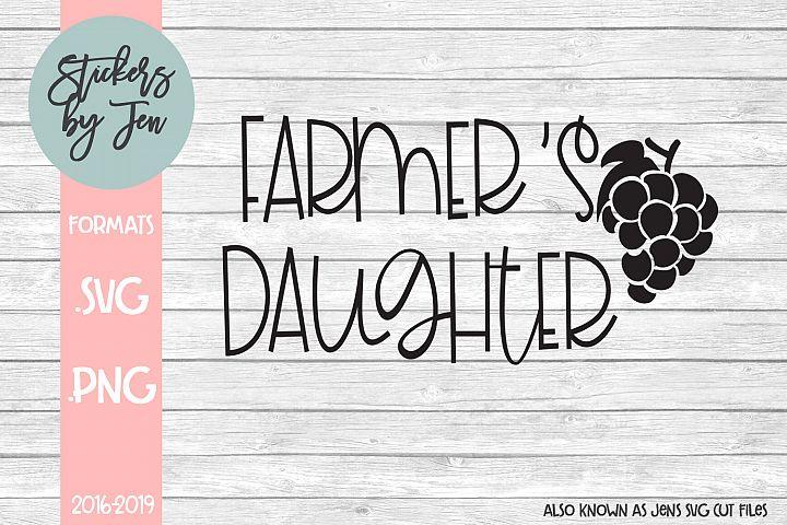 Farmers Daughter SVG Cut File