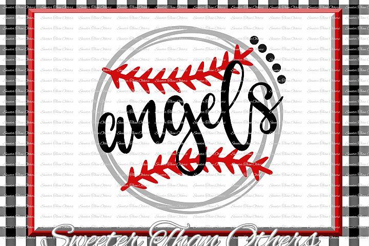 Baseball SVG, Softball Svg, Angels svg, Angels Baseball svg