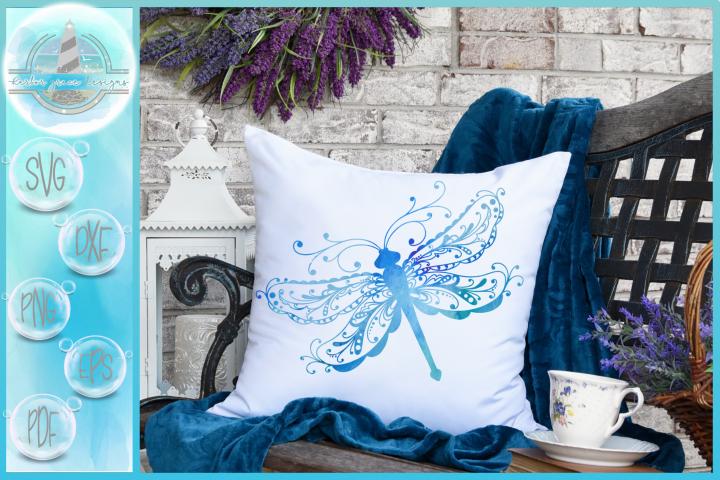 Beautiful Intricate Dragonfly Mandala Zentangle SVG