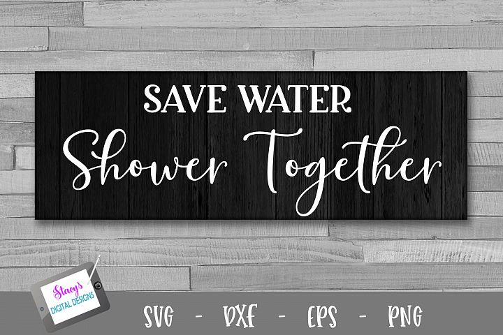 Save water shower together - Bathroom SVG