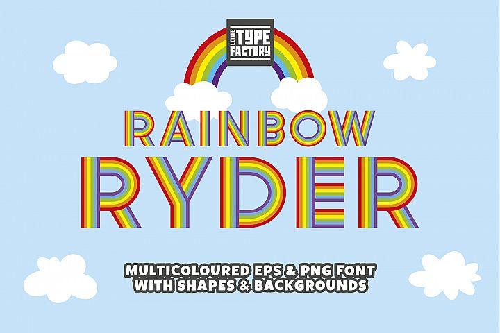 Rainbow Ryder EPS Font