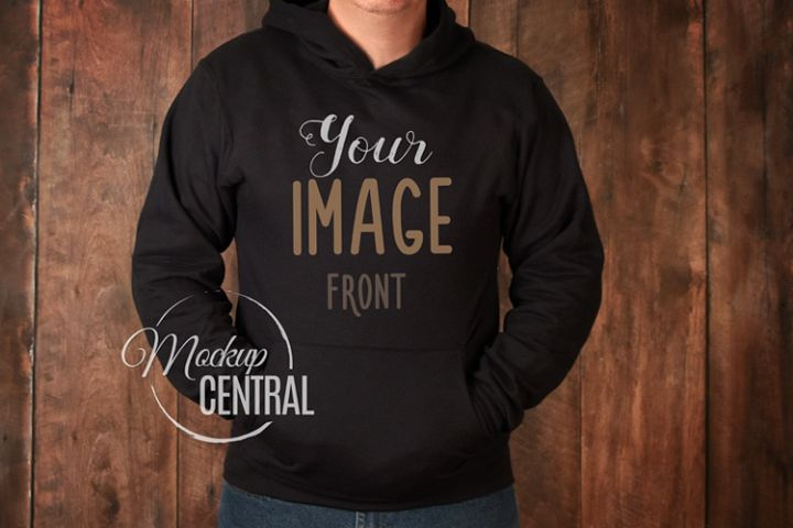 Mens Gray Hoodie Sweatshirt Mockup, Grey Shirt Mock Up