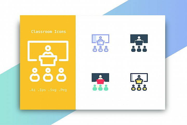 Classroom Icons Vector
