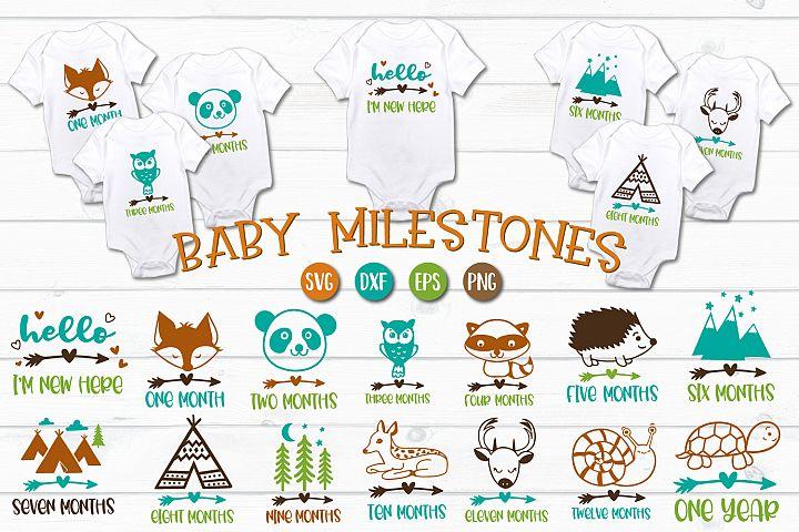 Baby Milestones - SVG, EPS, PNG, EPS