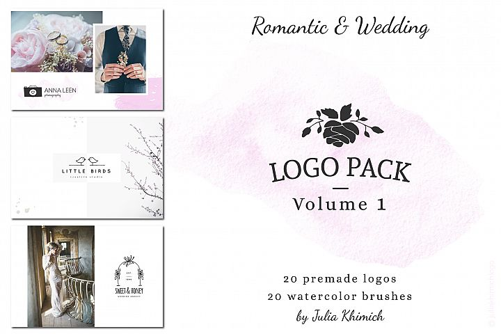 Logo Pack Vol.1. Romantic & Wedding