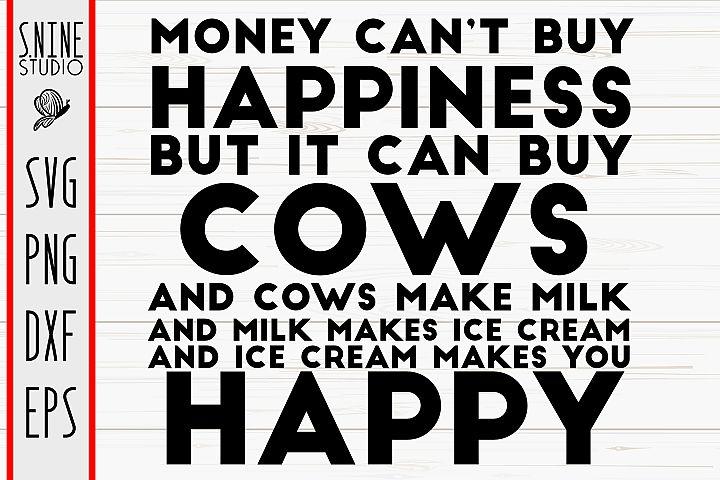 Funny Cow Make You Happy Farm Cut File