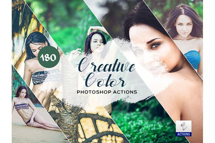 180 Creative Color Pro Photoshop Actions