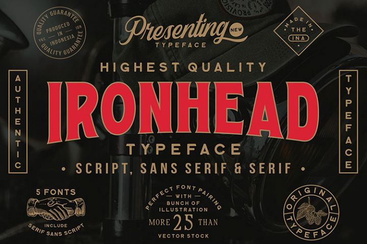 Ironhead Font Collection