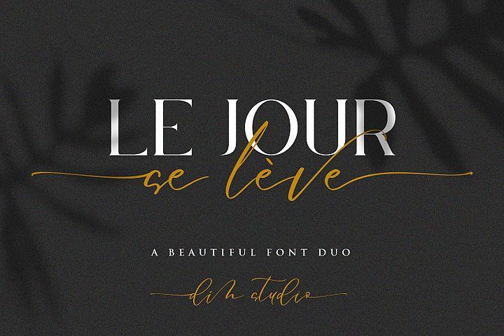 Le Jour -Font Duo