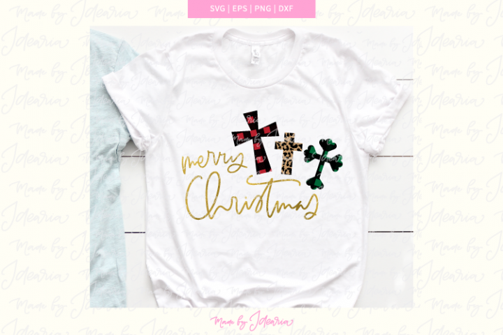 Merry Christmas svg, christmas svg cross, christmas plaid