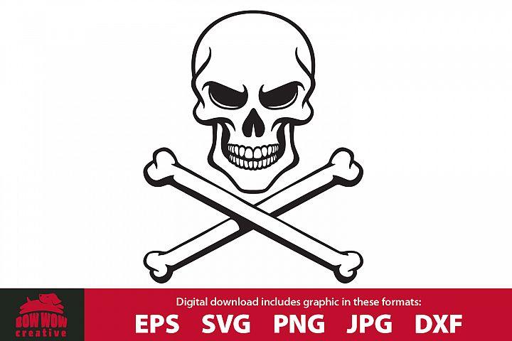 Skull and Crossbones SVG, EPS, JPG, PNG, DXF